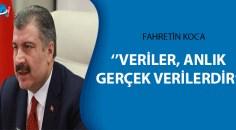 """Sağlık Bakanı Fahrettin Koca, """"Gerçekleri çarpıtmanın kimseye faydası yoktur"""" dedi"""