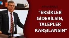 CHP'li Barut, sağlık emekçilerinin taleplerini meclise taşıdı