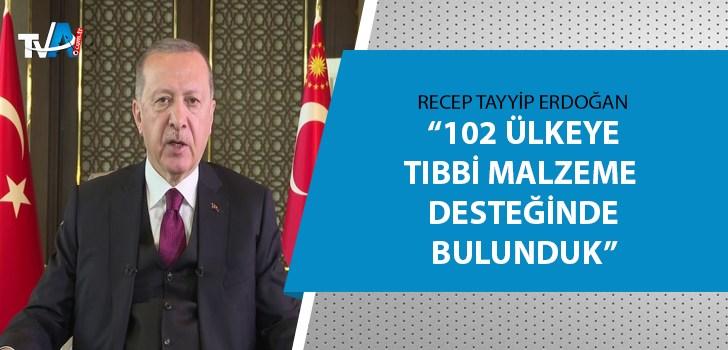 Cumhurbaşkanı Erdoğan'dan Küresel Aşı Zirvesi'ne mesaj