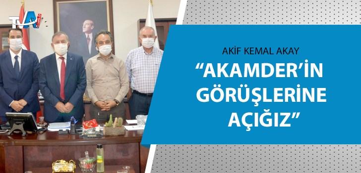 AKAMDER Başkanı Karslıoğlu Başkan Akay'ı ziyaret etti