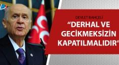 Bahçeli'den Türk Tabipler Birliğine tepki!