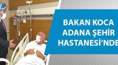 Onkoloji servisindeki hastaları ziyaret etti