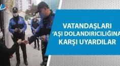 Adana polisi 'aşı timi' oluşturdu