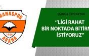 """Emrah Bayraktar: """"Adanaspor olarak zor bir fikstürden geçiyoruz"""""""