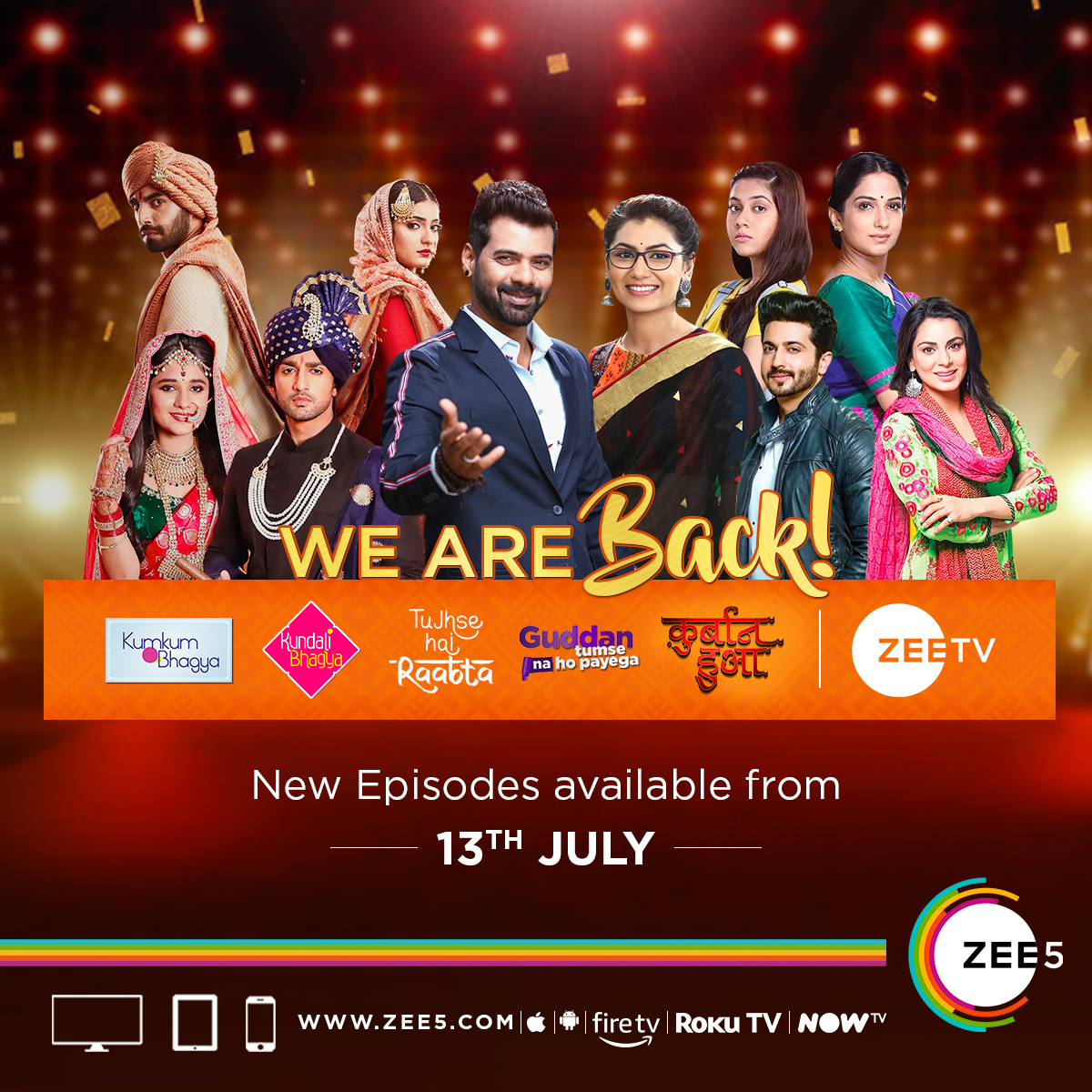 All-new episodes of Marquee TV shows back on air from 13th July on ZEE5 Global