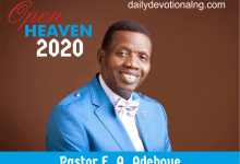 Photo of 29th October 2020 Open Heaven Daily Devotional – Let Go Of Anger