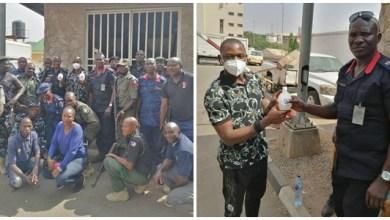 Covid-19: Dr. Yusuf, Senior Pastor, TROI Church Abuja distributes Preventive Kits to Taskforce Members in Abuja