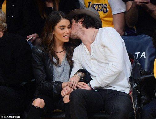 Ian Somerhaler Nikki Reed LA Lakers 1