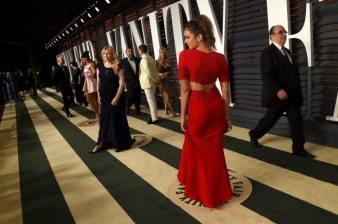 Nina Dobrev 2015 Vanity Fair Oscar Party 1