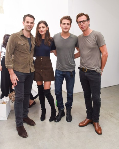 Frame Denim Show at NYFW - Phoebe Tonkin and Paul Wesley 2