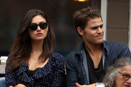 US Open - Paul Wesley and Phoebe Tonkin 1