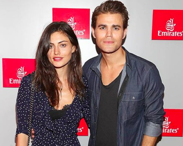 2015 US Open with Paul Wesley & Phoebe Tonkin