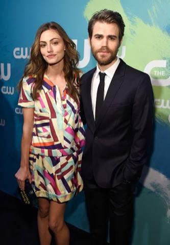 CW Upfronts 2016 - Paul Wesley and Phoebe Tonkin 1