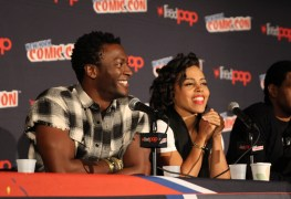 Aldis Hodge and Amirah Vann at NYCC