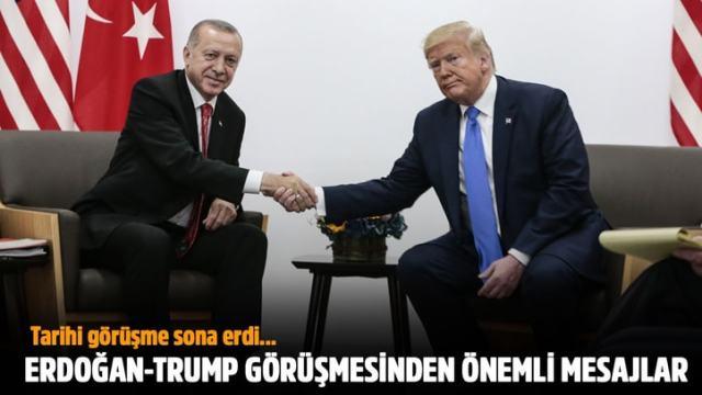Erdoğan ve Trump görüşmesinden önemli mesajlar!