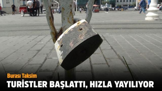 Burası Taksim, turistler başlattı, hızla yayılıyor
