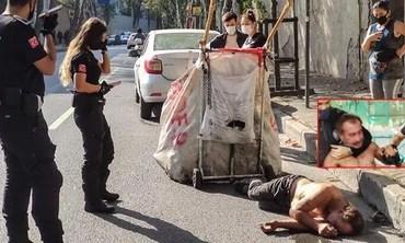 ATIKLARI YÖNETİLEMEYEN BEŞİKTAŞ ALARM VERİYOR: Bayılan kağıt toplayıcısı ayılınca sağlıkçılara saldırdı!