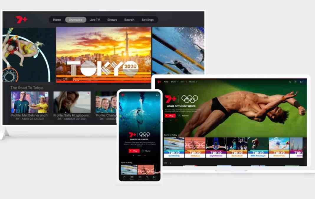 The Tokyo Olympics on 7plus (image - Channel 7)