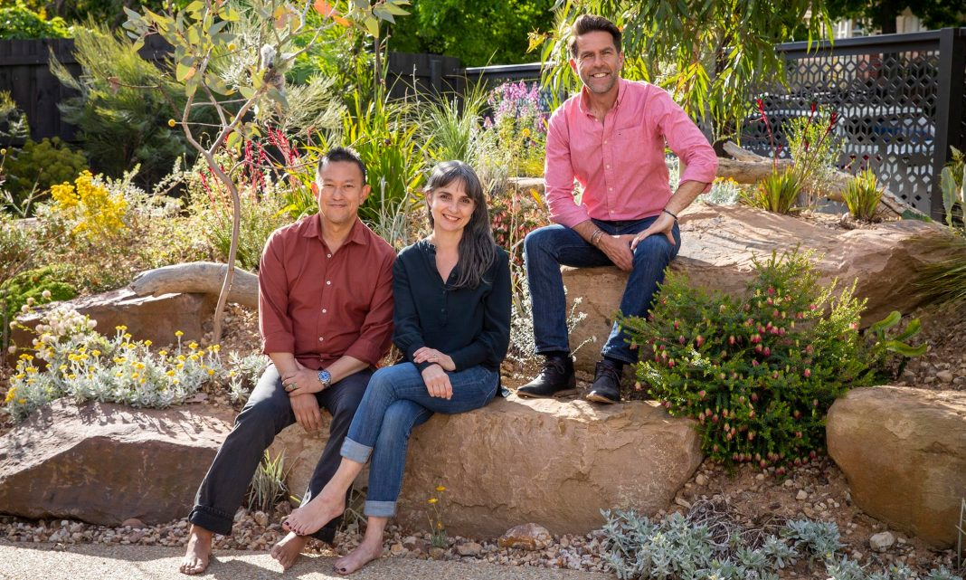 Host MICHAEL MCCOY with owners MARIA MARSHALL & CARL LE (image - ABC)