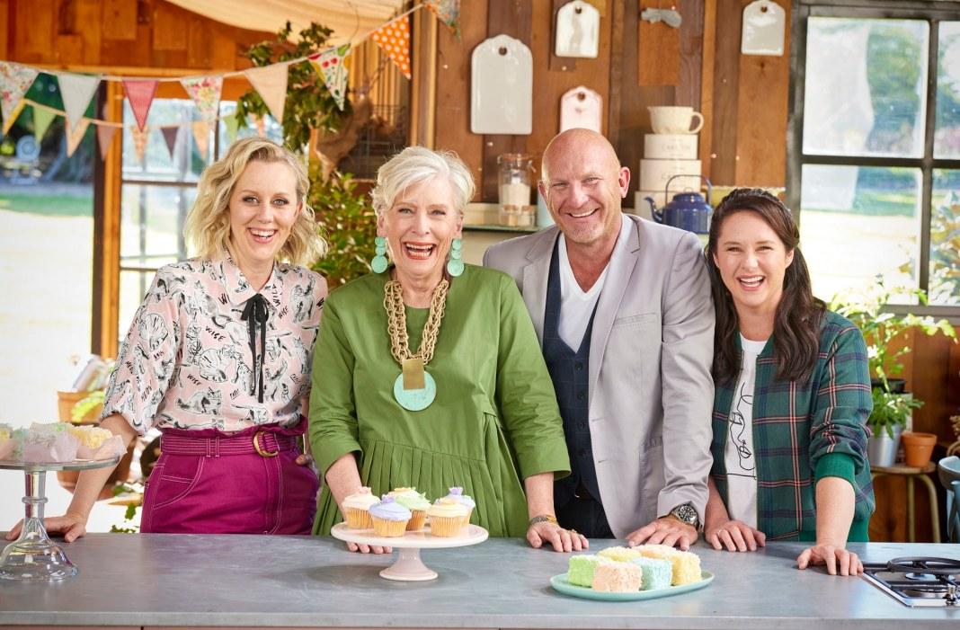 Claire Hooper, Maggie Beer, Matt Moran, and Mel Buttle return for the fifth season of THE GREAT AUSTRALIAN BAKE OFF (image - Nicholas Wilson/Foxtel)