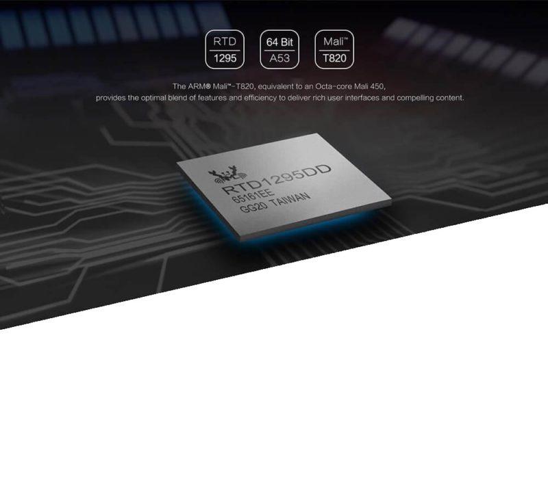 Zidoo X9S Realtek RTD 1295 CPU