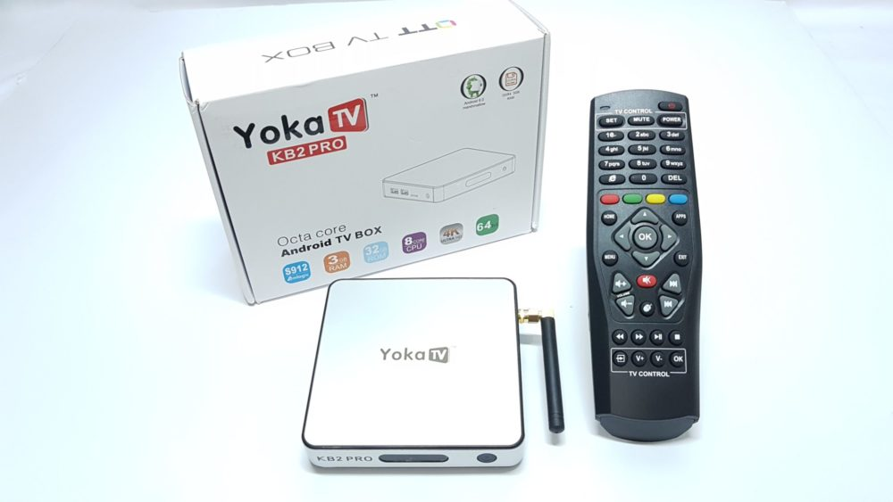 YokaTV KB2 Pro 3GB DDR4 Android 6.0 4k TV Box contents