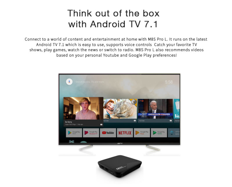 Mecool M8S Pro L Android TV