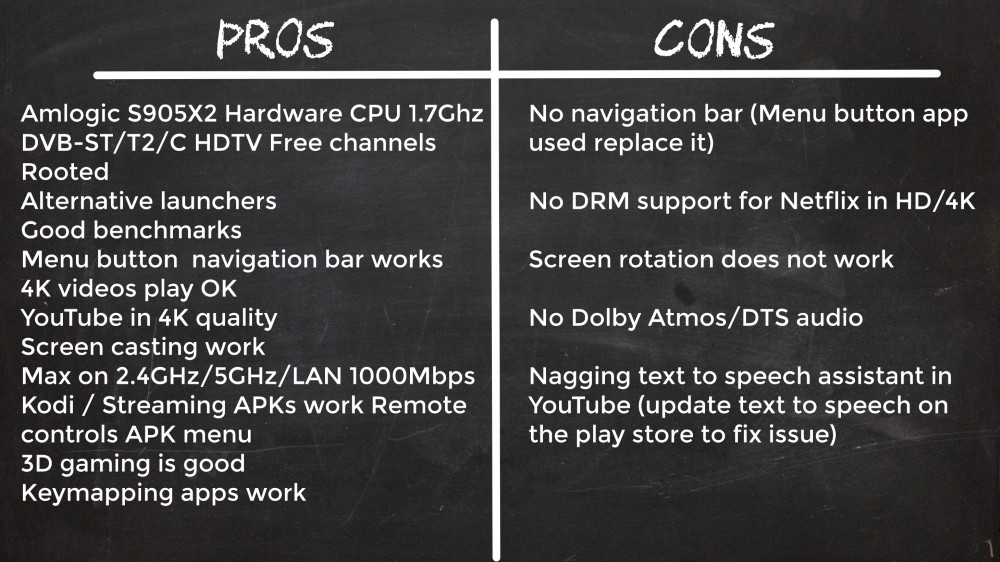 Mecool K7 Pros and Cons