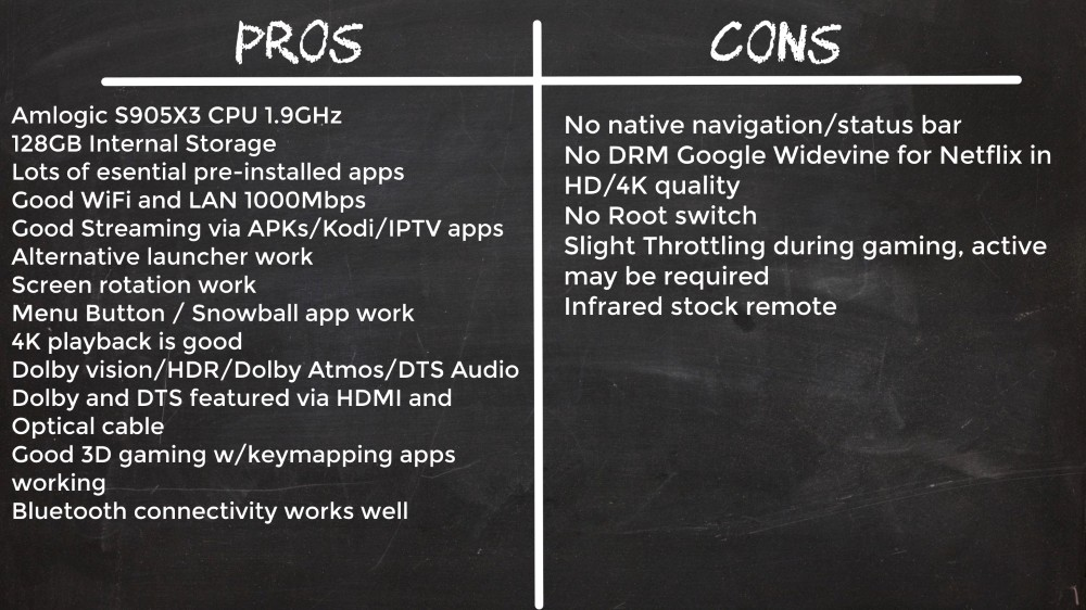HK1 Box Pros and cons
