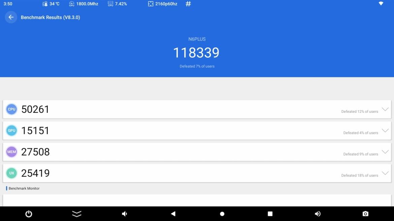 Magicsee N6 Plus Antutu Benchmark
