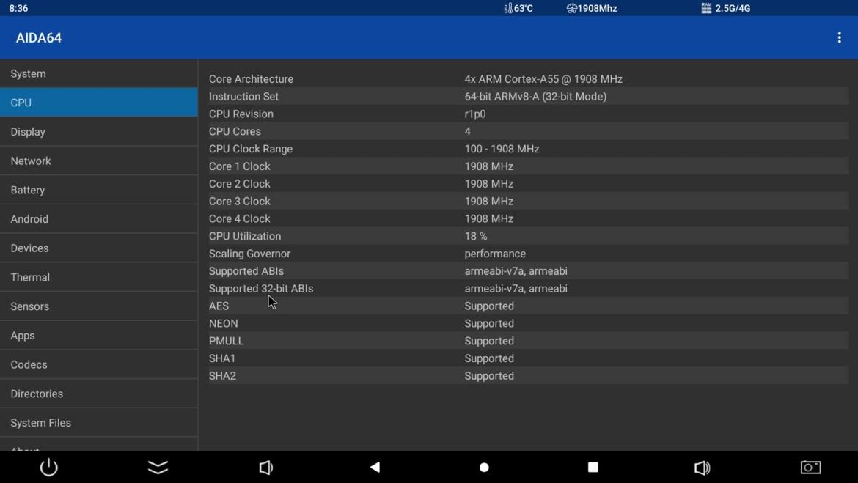 HK1 X3 CPU info