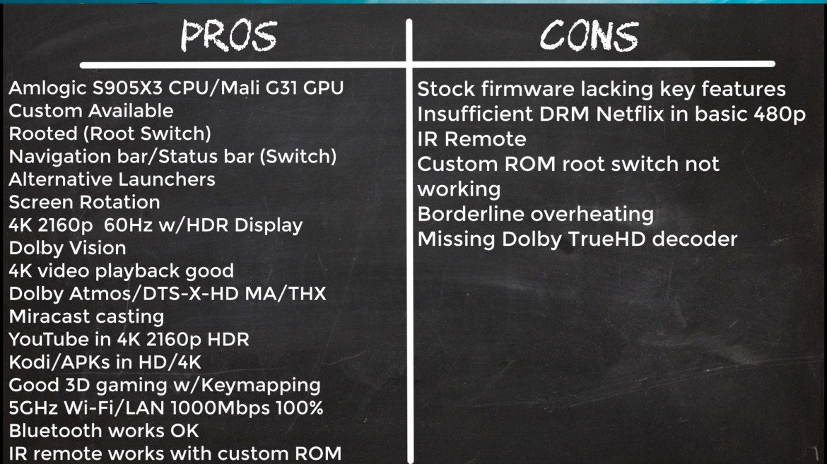 HK1 X3 Pros and cons