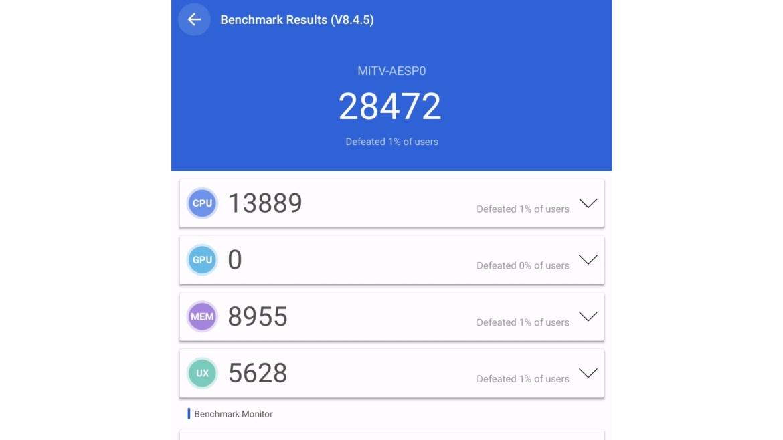 Xiaomi Mi TV stick Antutu benchmark