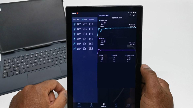 Vastking K10 Pro Wifi speed test
