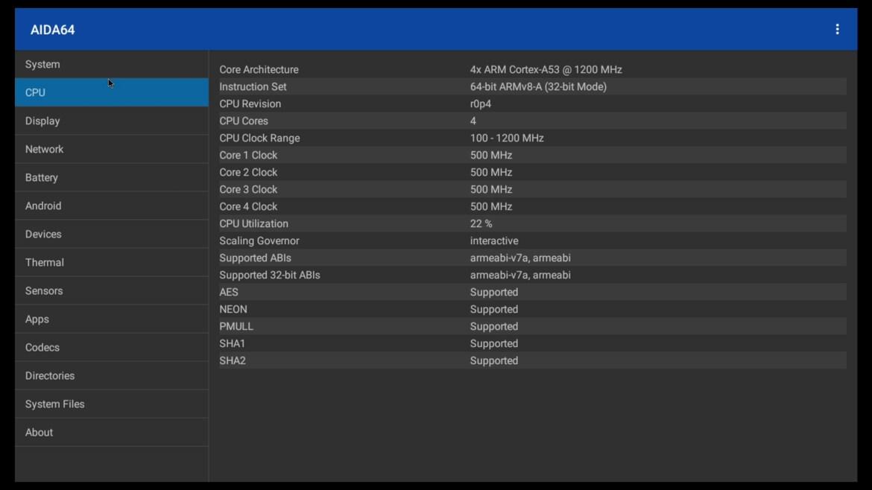 X96 Mini+ CPU info