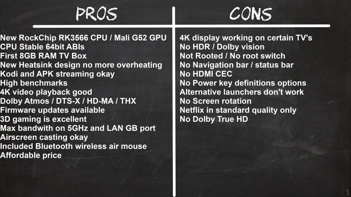 H96 Max RK3566 Pros and cons