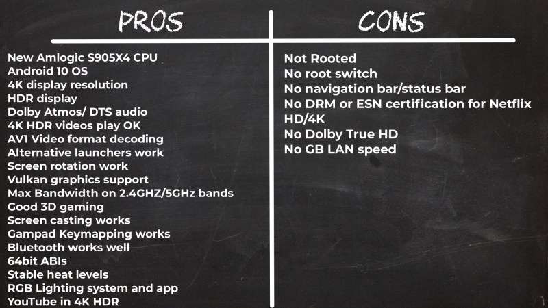 A95X F4 pros and cons