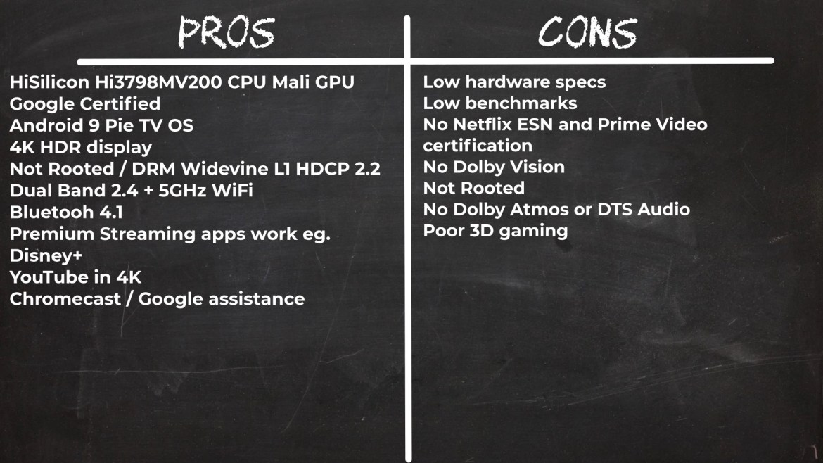 HiMEDIA S500 pros and cons