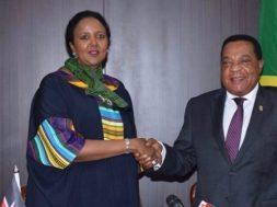 Ambassador-Amina-Mohamed-with-her-Tanzanian-counterpart-tvcnews