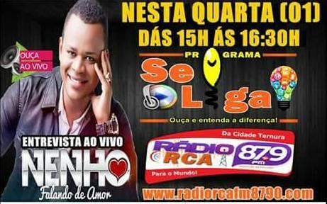 Cantor Nenho Falando de Amor concede entrevista na Rádio RCA FM e comenta sobre sua música de trabalho
