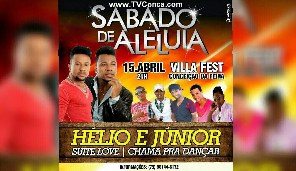 Sábado de Aleluia terá uma grande festa na cidade de Conceição da Feira