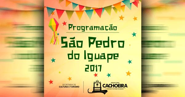 Confira a programação do São Pedro do Iguape 2017 para este domingo (02/07)