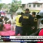 Piura: Ambulantes insisten en invadir vía pública y se enfrentan a policías durante desalojo