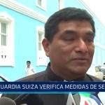 Trujillo: Guardia Suiza verifica medidas de seguridad