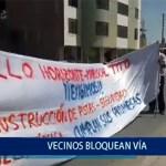 Piura: Vecinos bloquean carretera