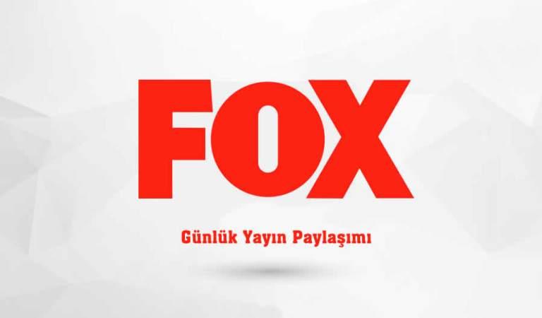 Fox Yayın Akışı 24 Kasım 2020 Salı