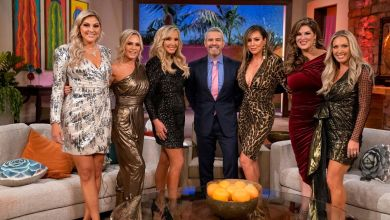 Gina Kirschenheiter, Tamra Judge, Shannon Beador, Andy Cohen, Emily Simpson, Kelly Dodd, Braunwyn Windham-Burke, The Real Housewives of Orange County, RHOC, RHOC Reunion, Bravo
