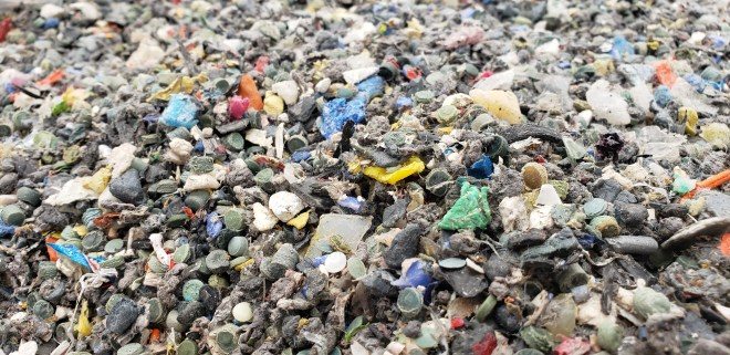 Processed mixed plastic waste