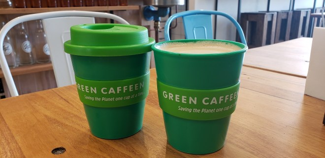 The Green Caffeen Coffee Cup