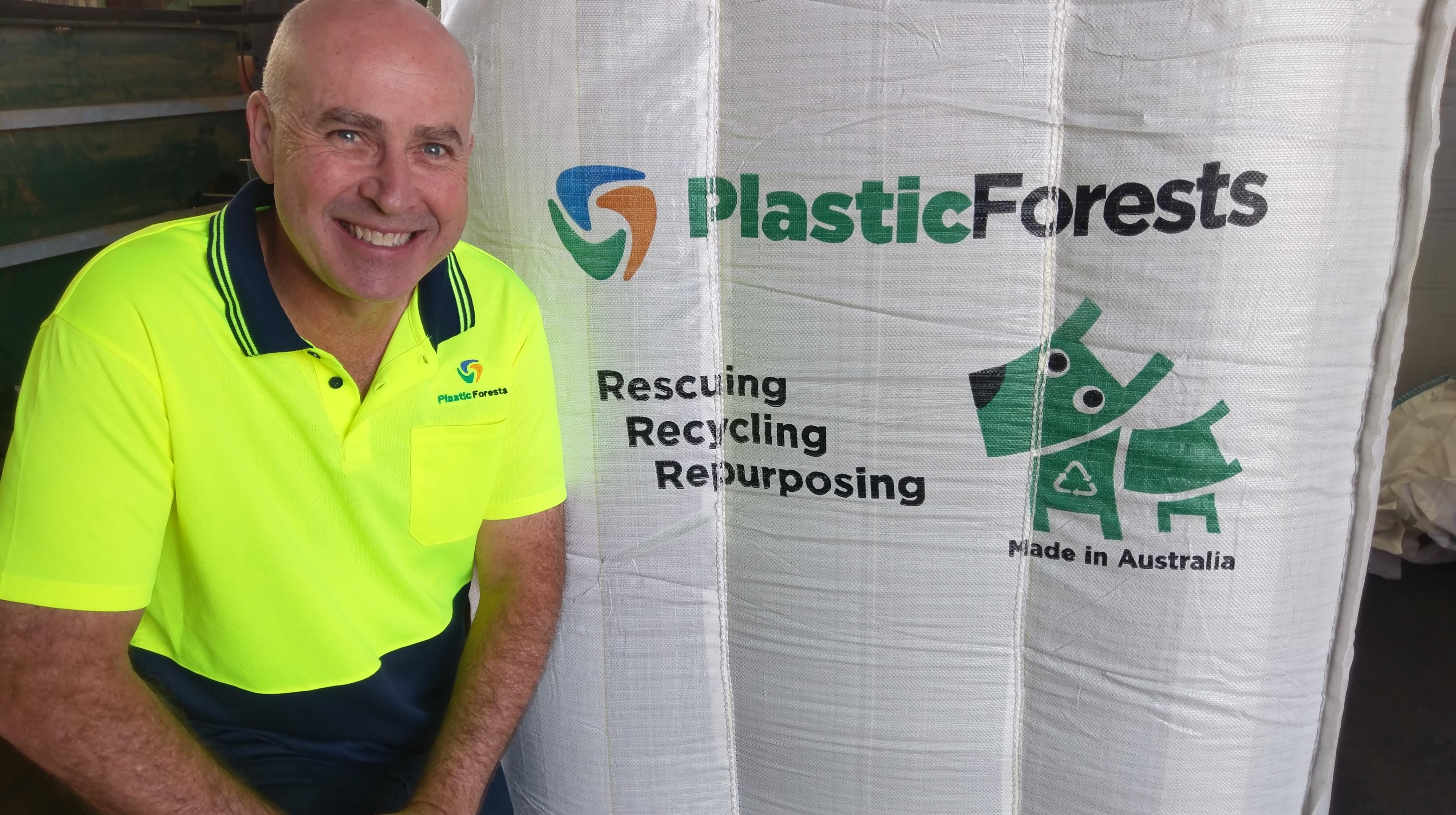 David Hodge of Plastic Forests: dry cleaning plastic waste